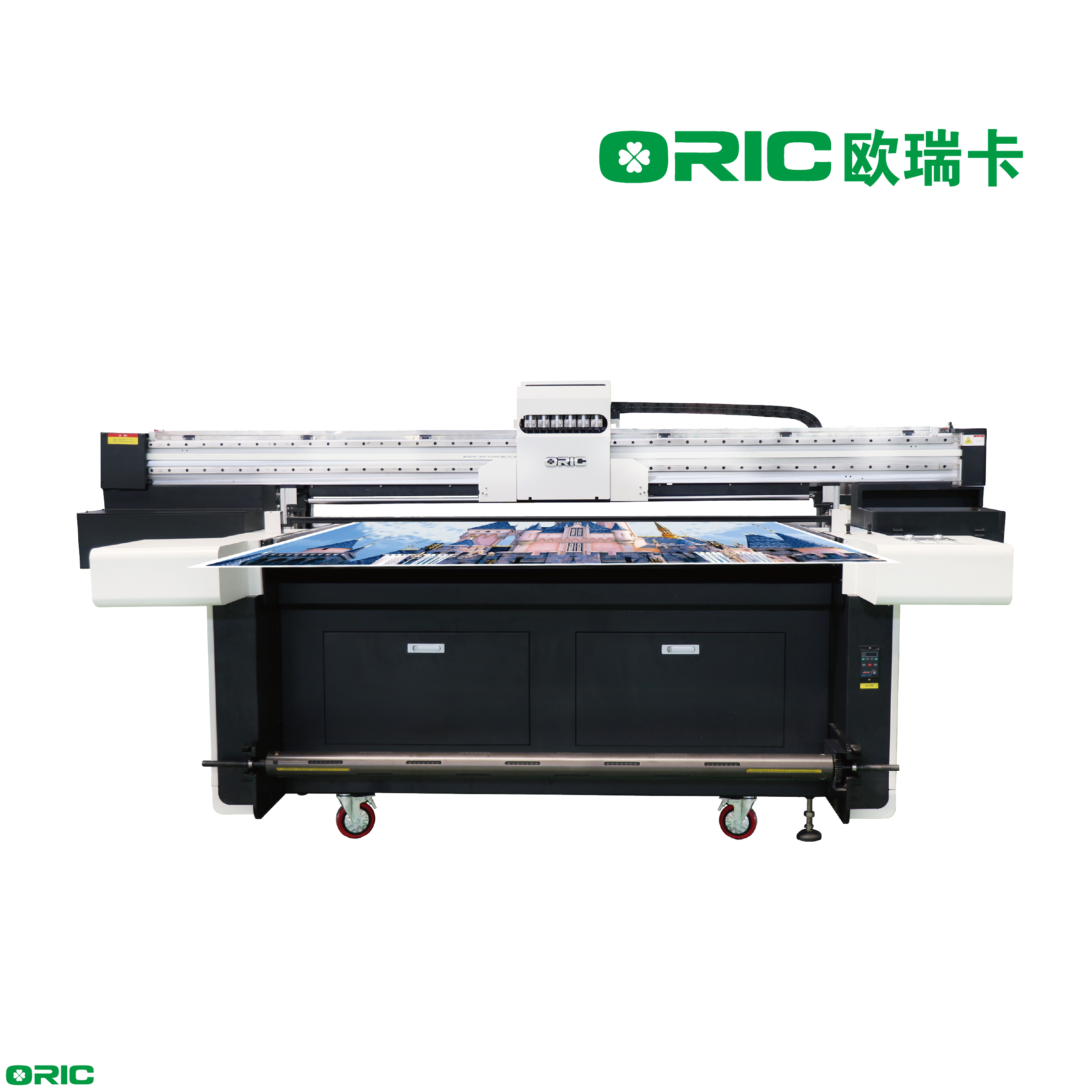 5000H 1.6m UV Roll To Roll And Faltbed All-In-One Printer With Six Industrial Print Heads