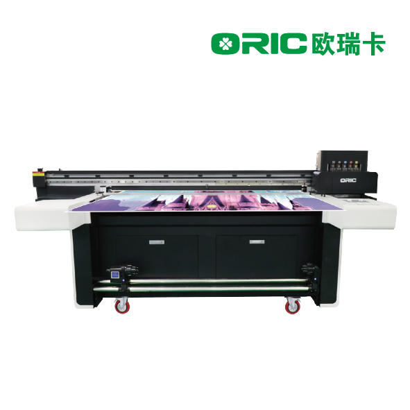 OR-3000H 1.6m UV Roll To Roll And Faltbed Hybird Printer With three/four Industrial Print Heads